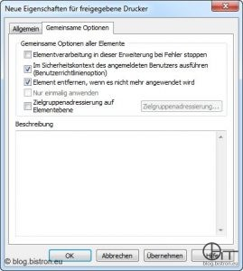 Group Policy Preferences - Gemeinsame Optionen