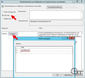 Internet Explorer 11: OWA-Domäne zur Kompatibilitäsansicht per GPO hinzufügen