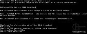 InstallScript - Output Installation Microsoft Office 2010 Standard