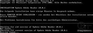 InstallScript - Output Update Adobe Reader 10.0.1