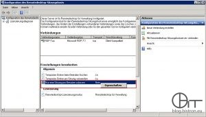 """MMC """"Konfigurieren des Remotedesktop-Sitzungshosts"""" - Nur eine Sitzung pro Benutzer zulassen"""