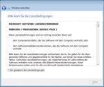 OOBE Windows 7 - 4. Lizenzvertrag