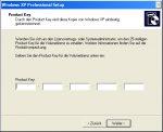 MiniSetup Windows XP - 4. Product Key