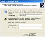 MiniSetup Windows XP - 5. Computername und Administratorkennwort