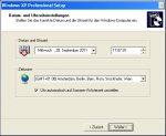 MiniSetup Windows XP - 6. Datum- und Uhrzeiteinstellungen
