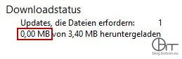 WSUS: Dateien genehmigter Updates werden nicht heruntergeladen; Downloadstatus - Updates, die Dateien erfordern: 1 - 0,00 MB von 3,40 MB heruntergeladen