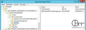Registrierungseintrag EnableIdlePowerManagement für Speichercontroller LSI Logic SAS