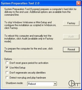 Sysprep 2.0 - Reseal + MiniSetup