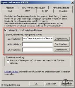 Konfiguration unattended WinPE-Setup