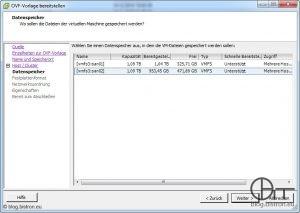 VDR-Installation - Datenspeicher