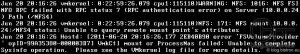 VMkernelLog: NFS-Mount - 2008 R2 Authentifizierungs-Problem: WARNING: NFS: 1016: NFS FSINFO RPC failed with RPC status 7 (RPC authentication error) on Server () Path (/) | NFS: 171: NFS mount :/ status: Unable to query remote mount point's attributes