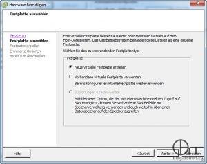 VMware ESXi - Zuordnung für RAW-Geräte ausgegraut (bei lokalen Disks)
