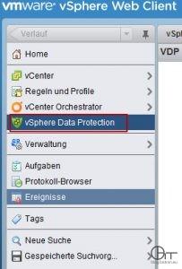 vSphere Web Client VDP-PlugIn