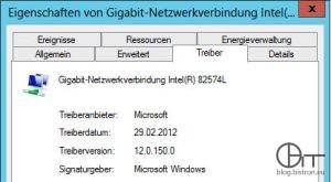 Windows 2012 E1000/E100e Standatd-Treiber (Intel(R) 82574L, Version 12.0..150.0)
