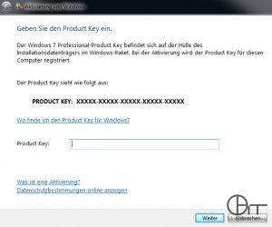 Windows Aktivierung: Produktschlüssel ändern