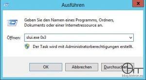 Windows Aktivierung: GUI mit slui.exe aufrufen